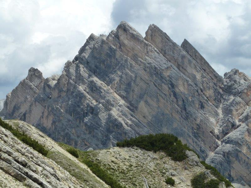 Dolomites path leading away from Col Bocia