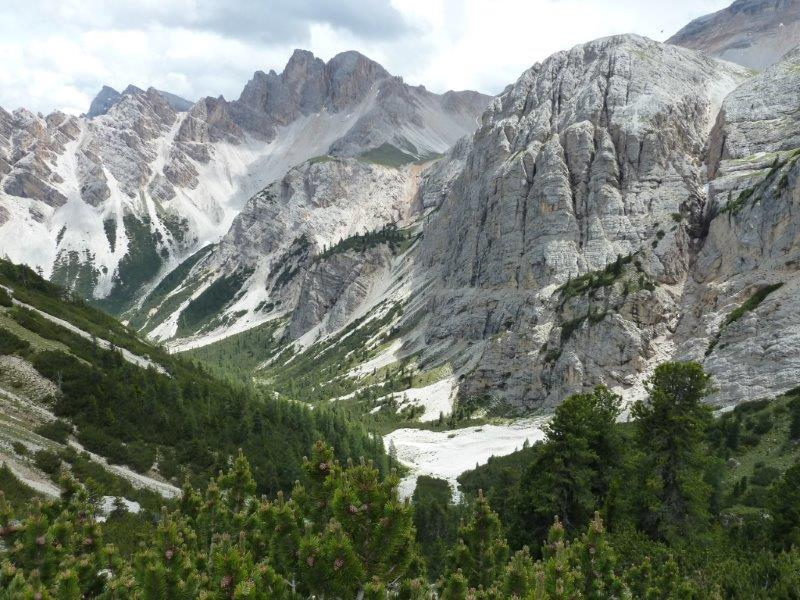Dolomites after Bocia on the descent