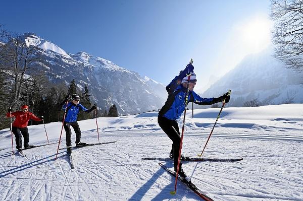 Skiing in Kandersteg