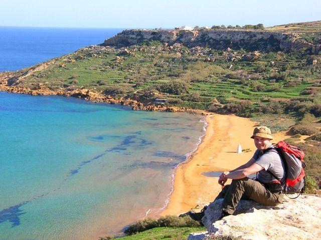 Walker relaxing on the Island of Gozo