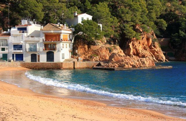 Beautiful beach in Tamariu (Costa Brava, Catalonia, Spain)