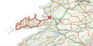 Map of the Dingle Way in Ireland