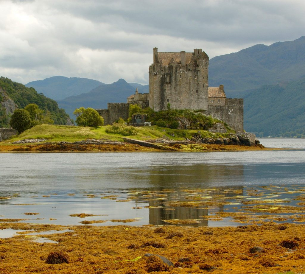 Picture of a Scottish Castle beside a body of water