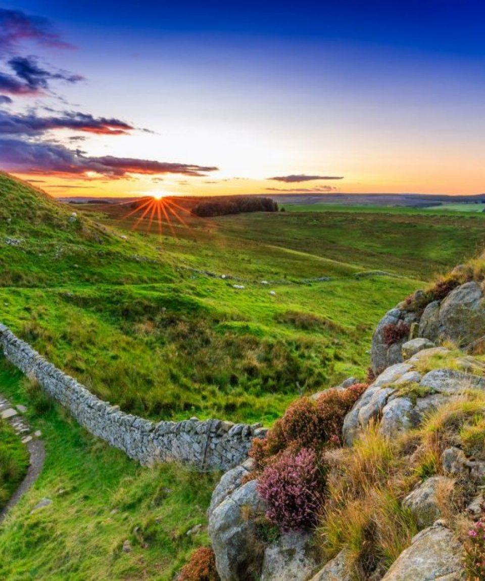 Sunset-at-Hadrians-Wall-Way