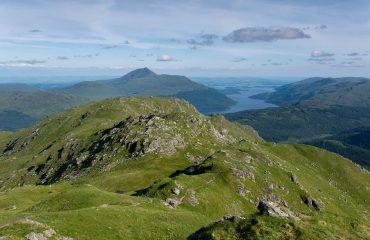 View of Loch Lomond and Ben Lomond from Ben Vorlich